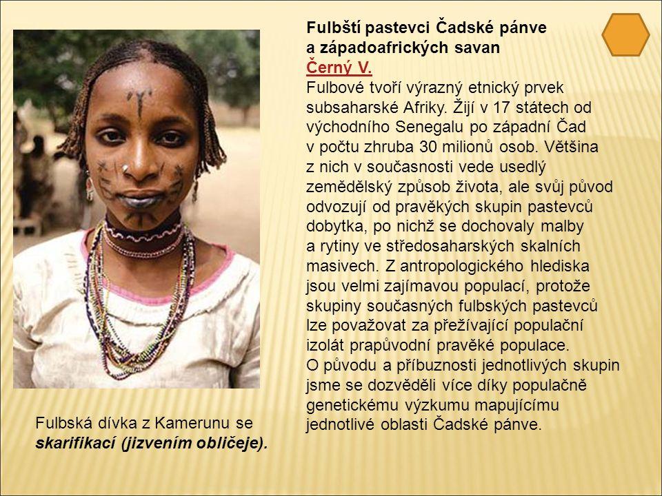 Fulbští pastevci Čadské pánve a západoafrických savan Černý V.