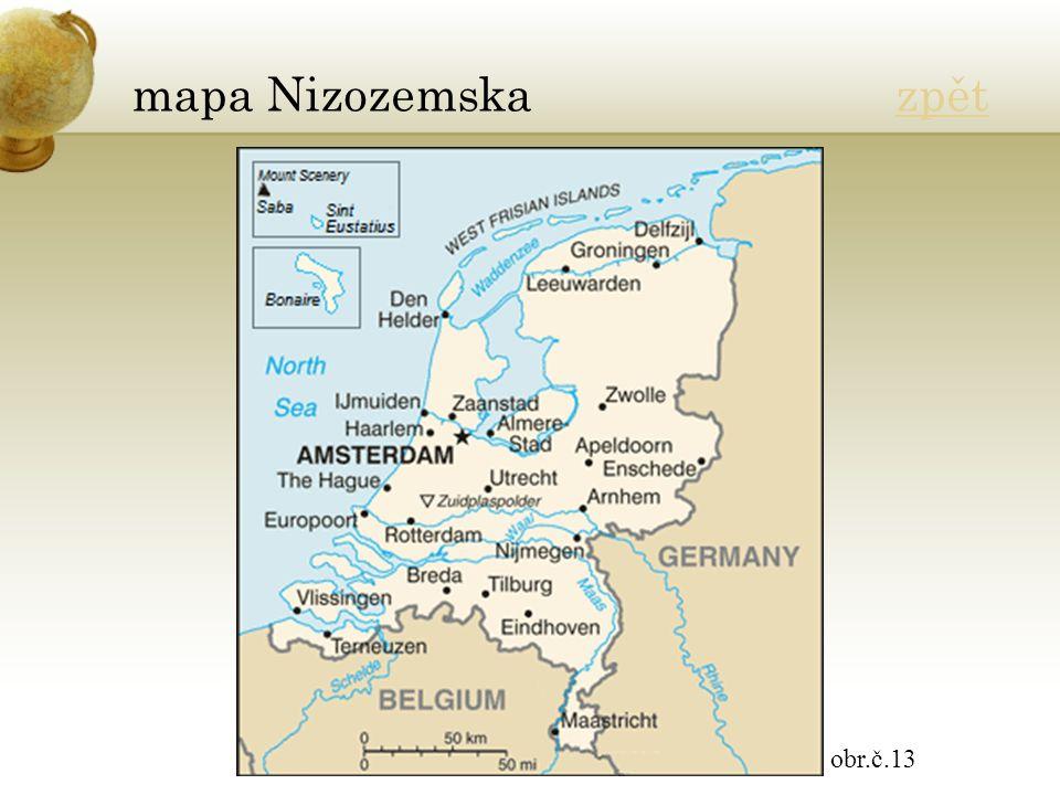 mapa Nizozemska zpětzpět obr.č.13