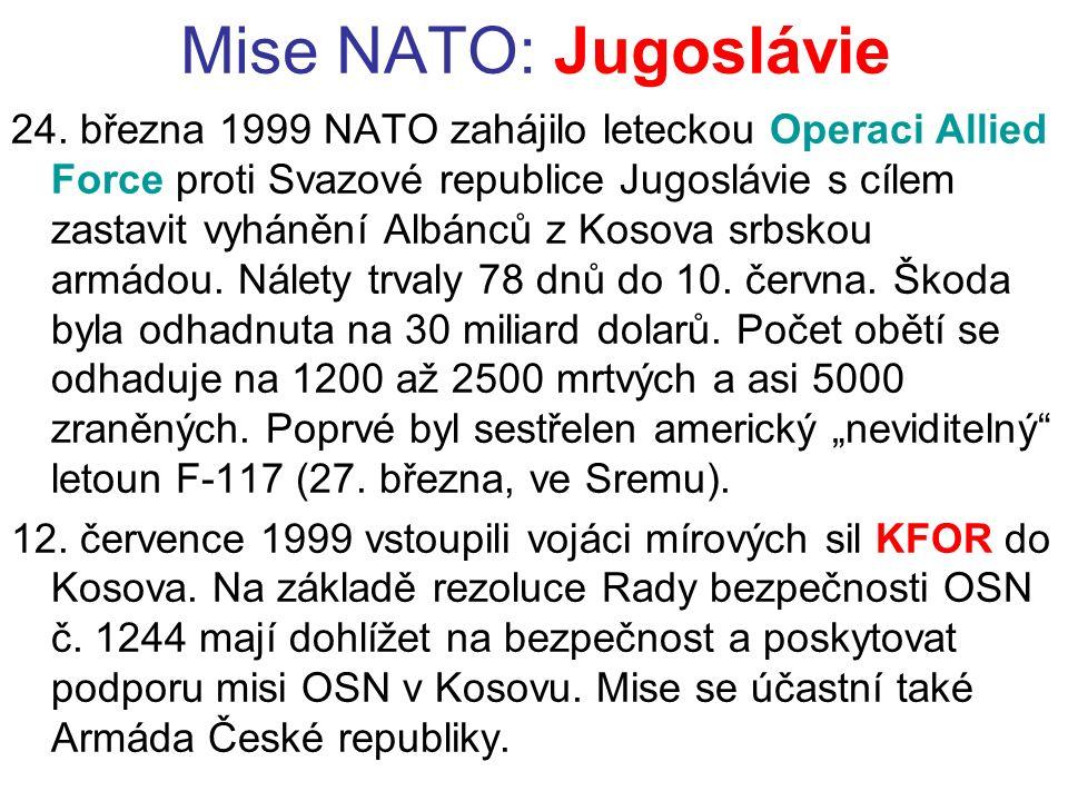 Mise NATO: Jugoslávie 24.
