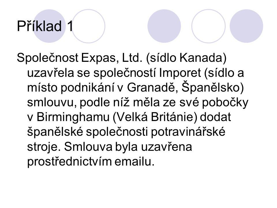 Příklad 1 Společnost Expas, Ltd.