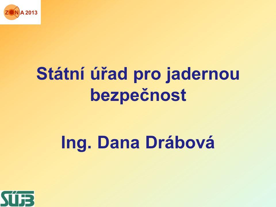 Státní úřad pro jadernou bezpečnost Ing. Dana Drábová