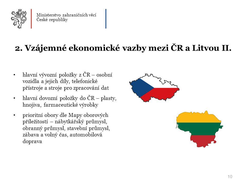 Ministerstvo zahraničních věcí České republiky 10 2.