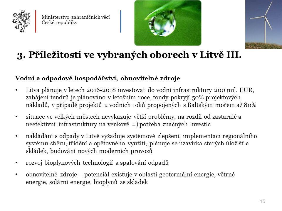 Ministerstvo zahraničních věcí České republiky 15 3.