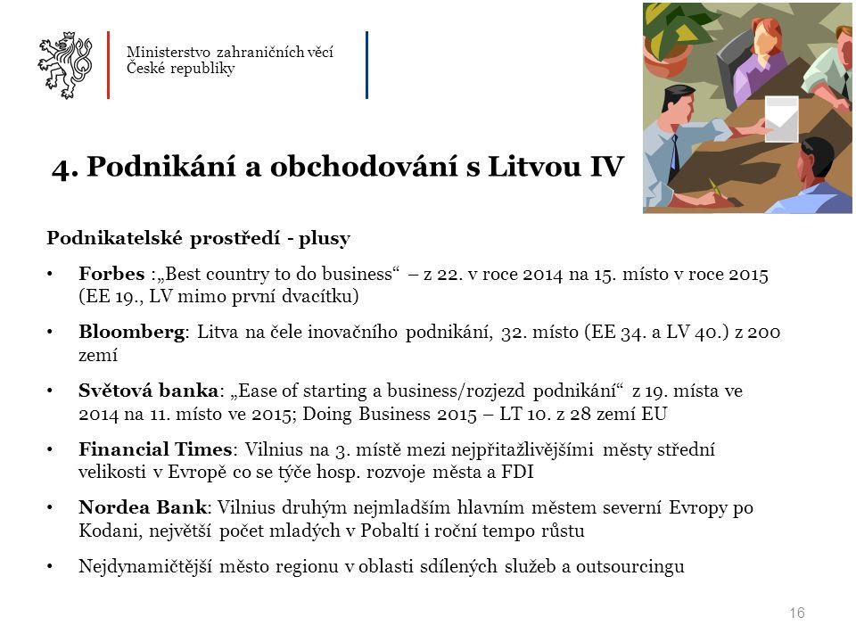 Ministerstvo zahraničních věcí České republiky 16 4.