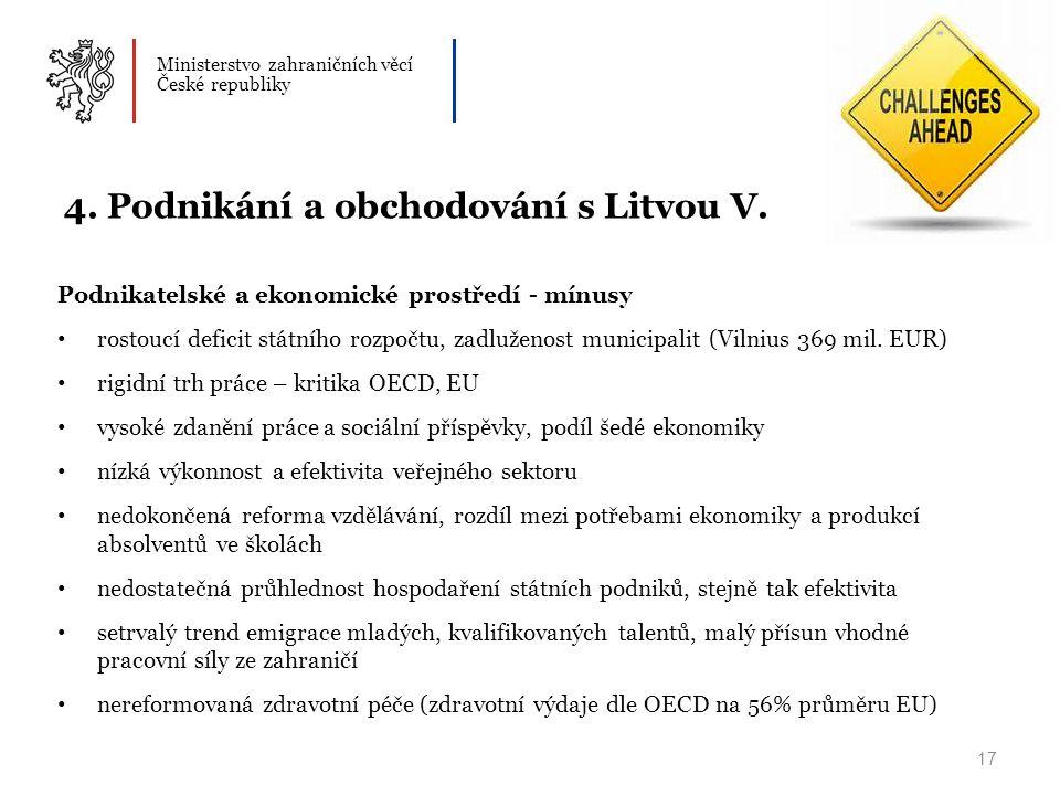 Ministerstvo zahraničních věcí České republiky 17 4.