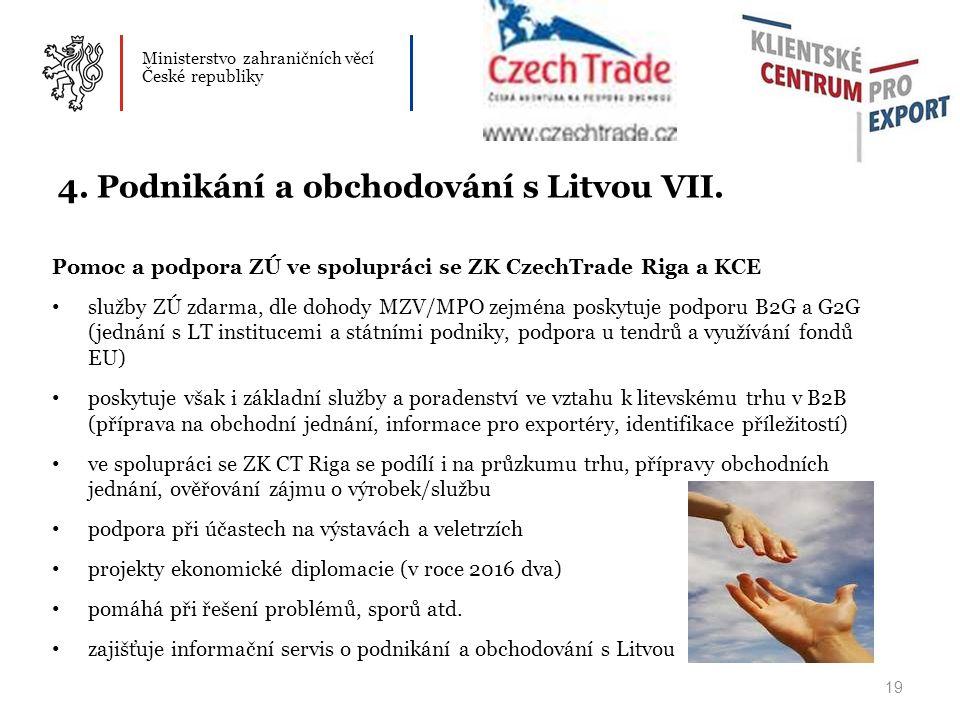 Ministerstvo zahraničních věcí České republiky 19 4.