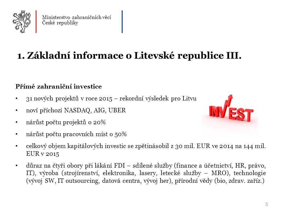 Ministerstvo zahraničních věcí České republiky 5 1.