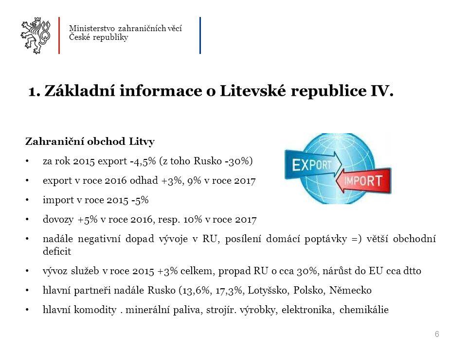 Ministerstvo zahraničních věcí České republiky 6 1.
