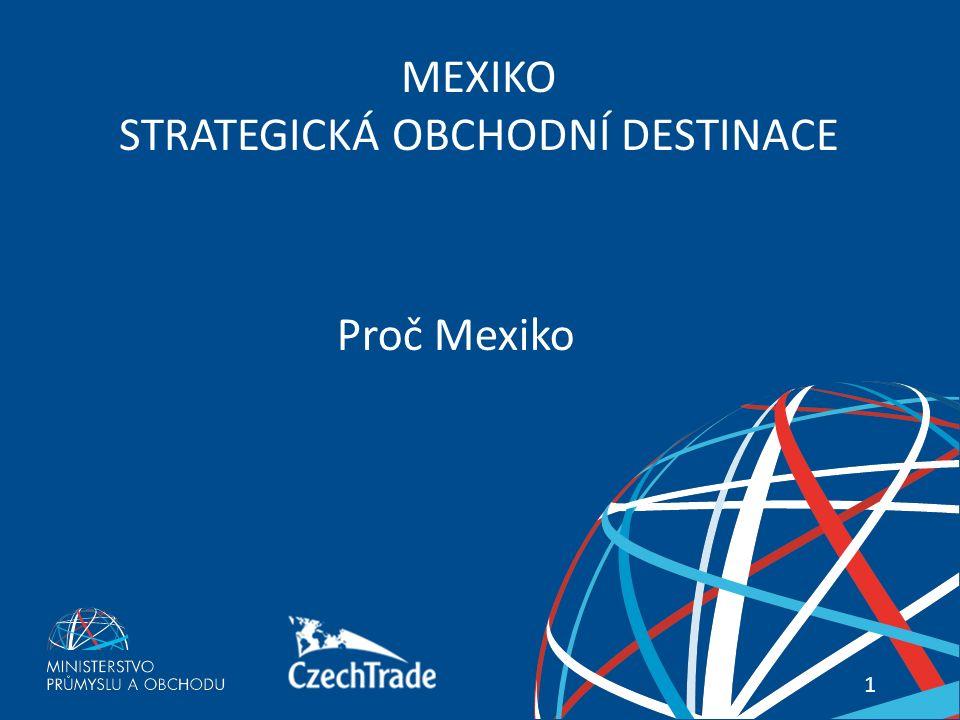 1 Váš průvodce zahraničními trhy 1 MEXIKO STRATEGICKÁ OBCHODNÍ DESTINACE Proč Mexiko