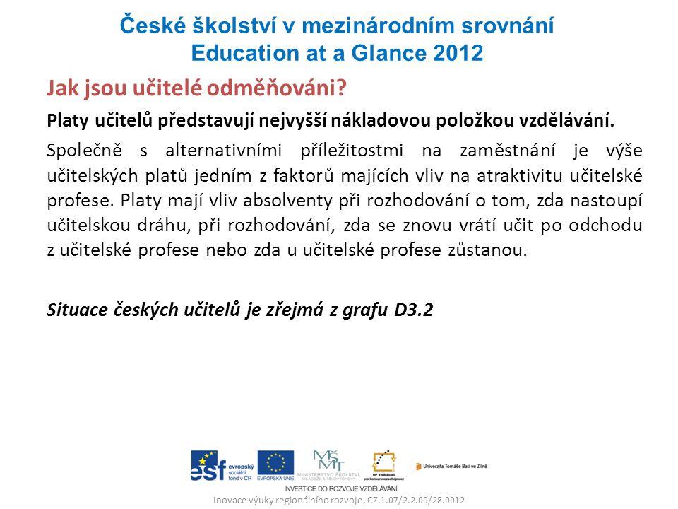 Inovace výuky regionálního rozvoje, CZ.1.07/2.2.00/28.0012 Jak jsou učitelé odměňováni.