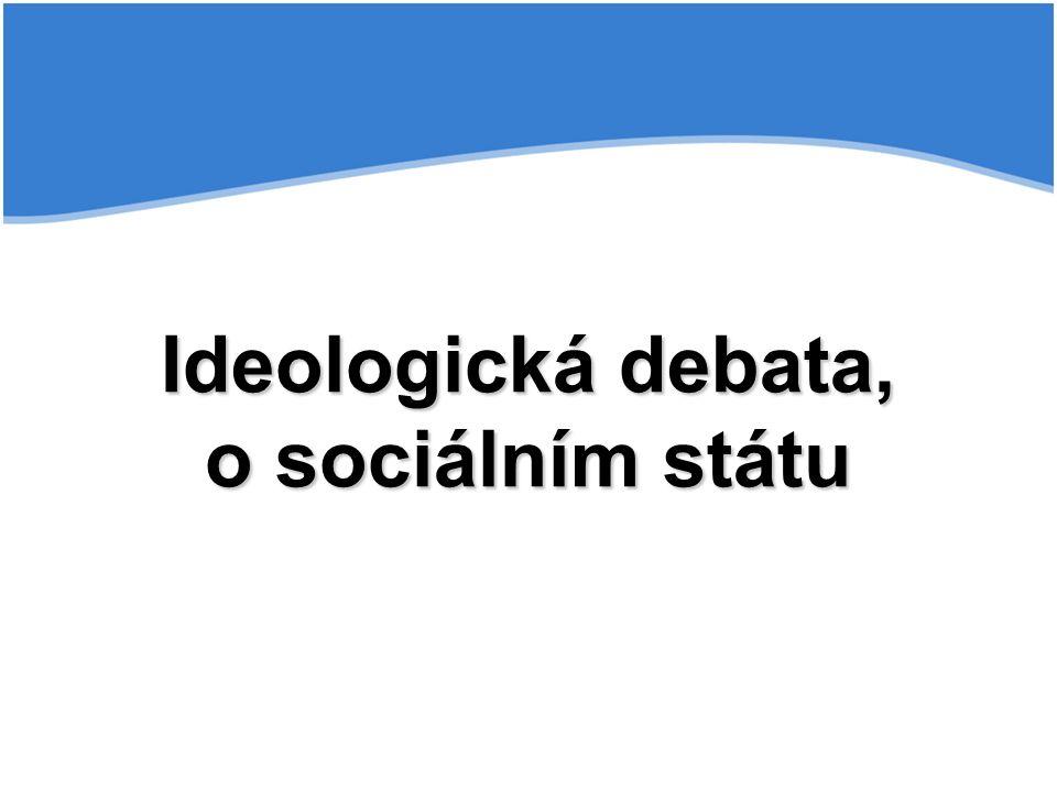 Ideologická debata, o sociálním státu