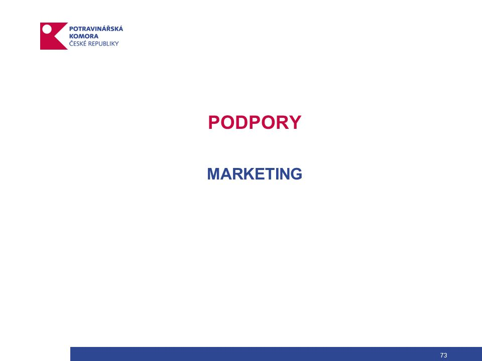 73 PODPORY MARKETING