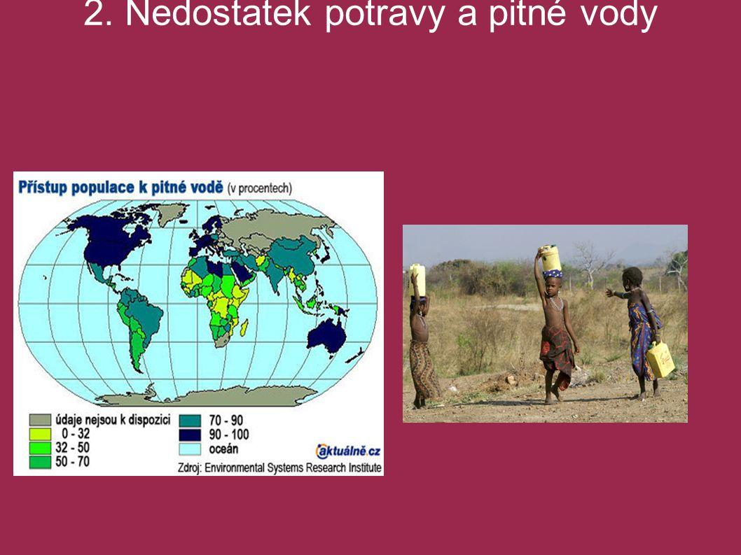 Hlavní globální problémy světa 2. Nedostatek potravy a pitné vody