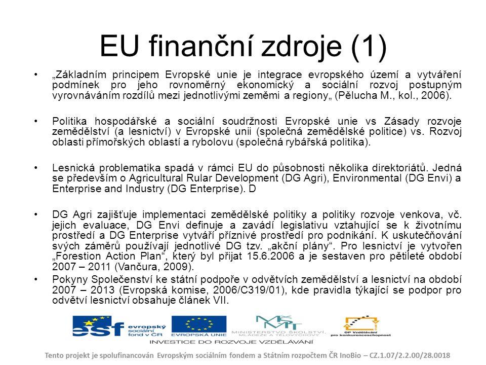 """EU finanční zdroje (1) """"Základním principem Evropské unie je integrace evropského území a vytváření podmínek pro jeho rovnoměrný ekonomický a sociální rozvoj postupným vyrovnáváním rozdílů mezi jednotlivými zeměmi a regiony"""" (Pělucha M., kol., 2006)."""