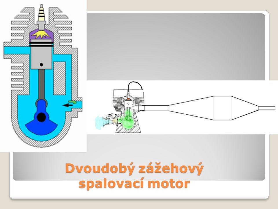 Dvoudobý zážehový spalovací motor