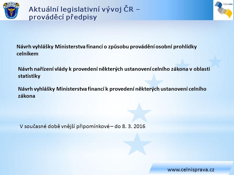 Celní zákon – společná ustanovení www.celnisprava.cz Úhrada v zahraniční měně (§ 63 CZ) – pouze na úhradu cla (nelze aplikovat na poskytnutí jistoty) – použije se přepočet ČNB pro rozhodný den – a to na náklady poskytovatele (plátce cla) Vyloučení úroku z neoprávněného jednání správce cla (§ 66 CZ) Při správě cla se neuplatní ustanovení DŘ o úroku z neoprávněného jednání (po 3 měs.