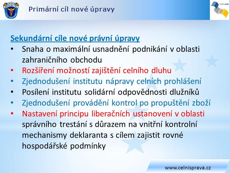 Celní zákon – přechodná ustanovení www.celnisprava.cz Řízení o správním deliktu zahájená podle stávající právní úpravy se ukončí podle této úpravy.