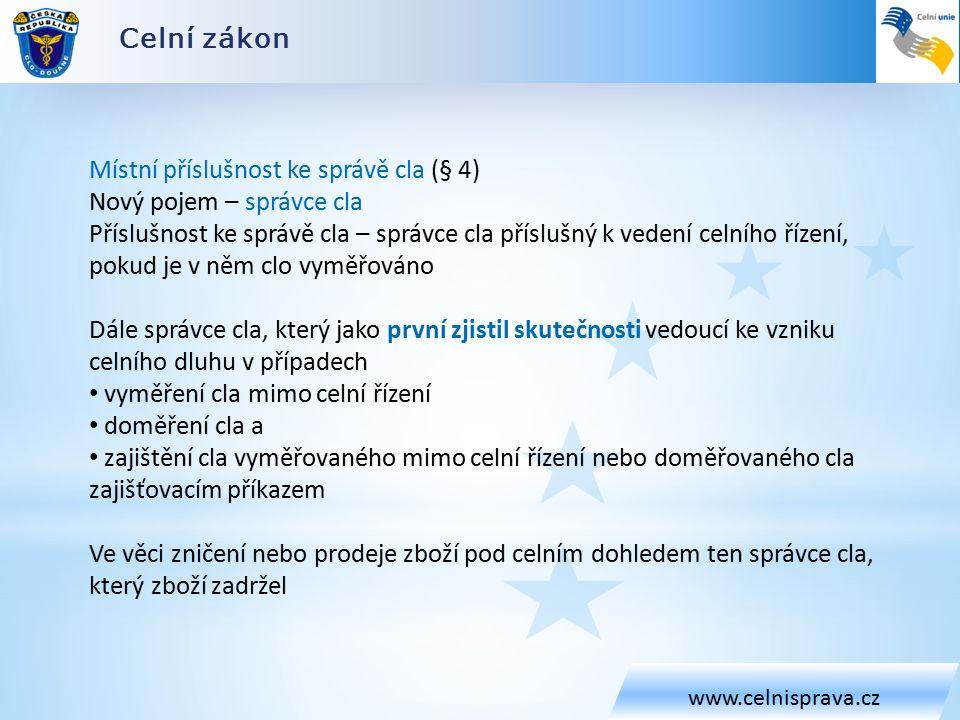 Obecná ustanovení (CKU, DA, IA + CZ) www.celnisprava.cz Poskytování informací celnímu orgánu (čl.