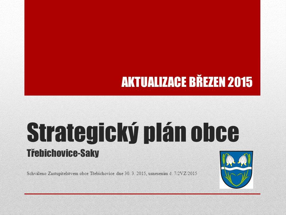 Strategický plán obce Třebichovice-Saky Schváleno Zastupitelstvem obce Třebichovice dne 30. 3. 2015, usnesením č. 7/2VZ/2015 AKTUALIZACE BŘEZEN 2015