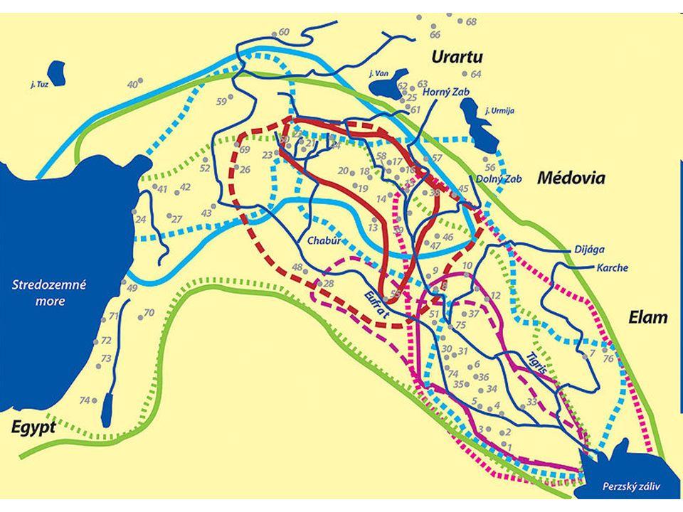 Území vyznačené na mapě: modrá přerušovaná: Obejdská kultúra fialová tečkovaná: III.