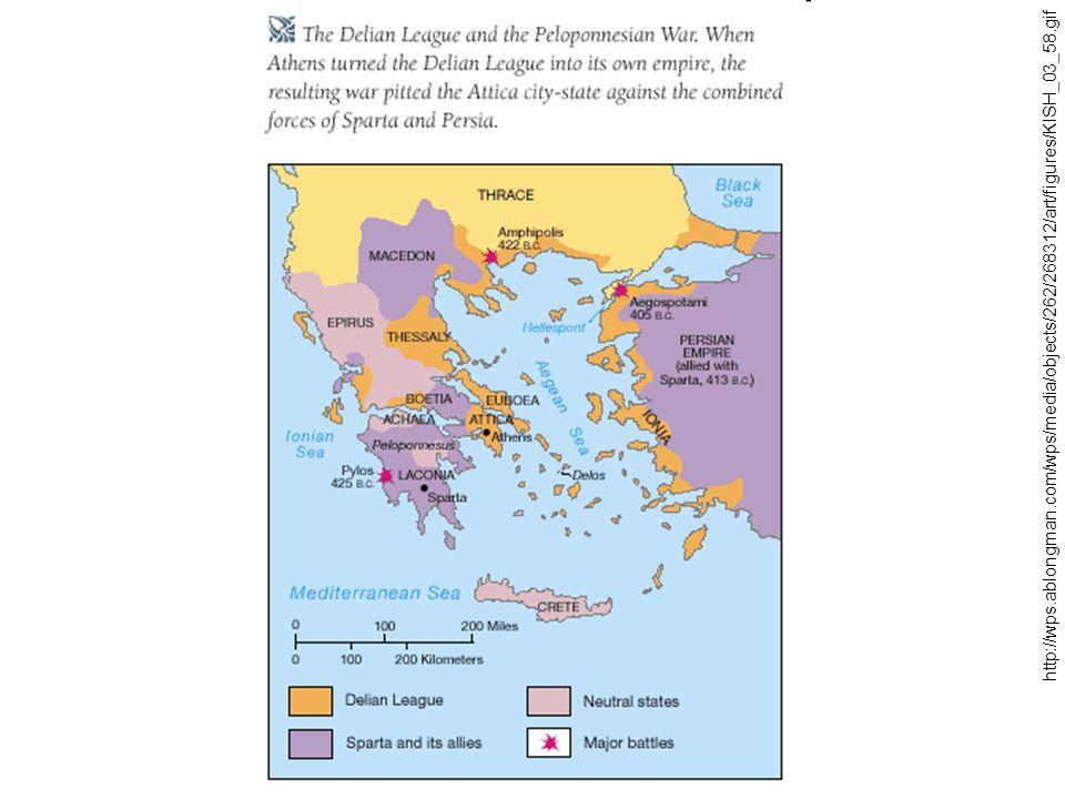 Alexandr Veliký a helénismus - syn Filipa Makedonského Alexandros (336–323) ovládl Řecko (zničení Théb) - velké tažení proti Persii (vojevůdce Parmenion, rozetnutí gordického uzlu, 331 vítězství u Gaugamél), ovládnutí Persie, tažení až do Indie, hlavním městem nové říše se stává Babylón - smrt Alexandra znamená rozpad říše na několik částí, kterým dominují dynastie Alexandrových vojevůdců (tzv.