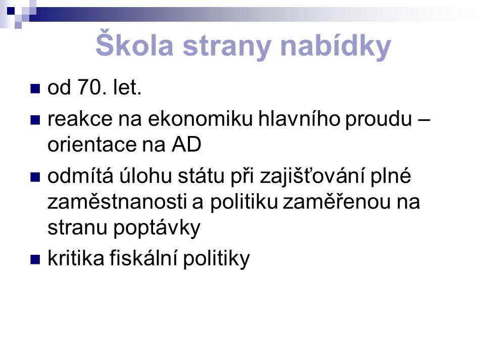 Škola strany nabídky od 70. let.