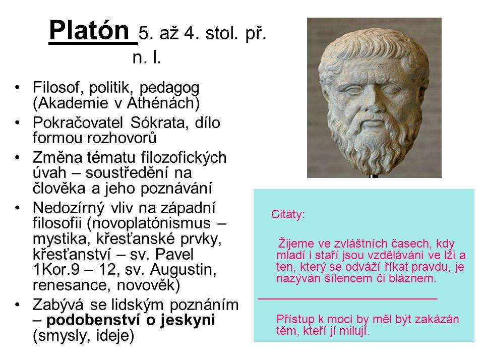 Platón 5. až 4. stol. př. n. l.