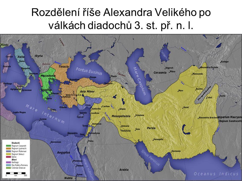 Rozdělení říše Alexandra Velikého po válkách diadochů 3. st. př. n. l.