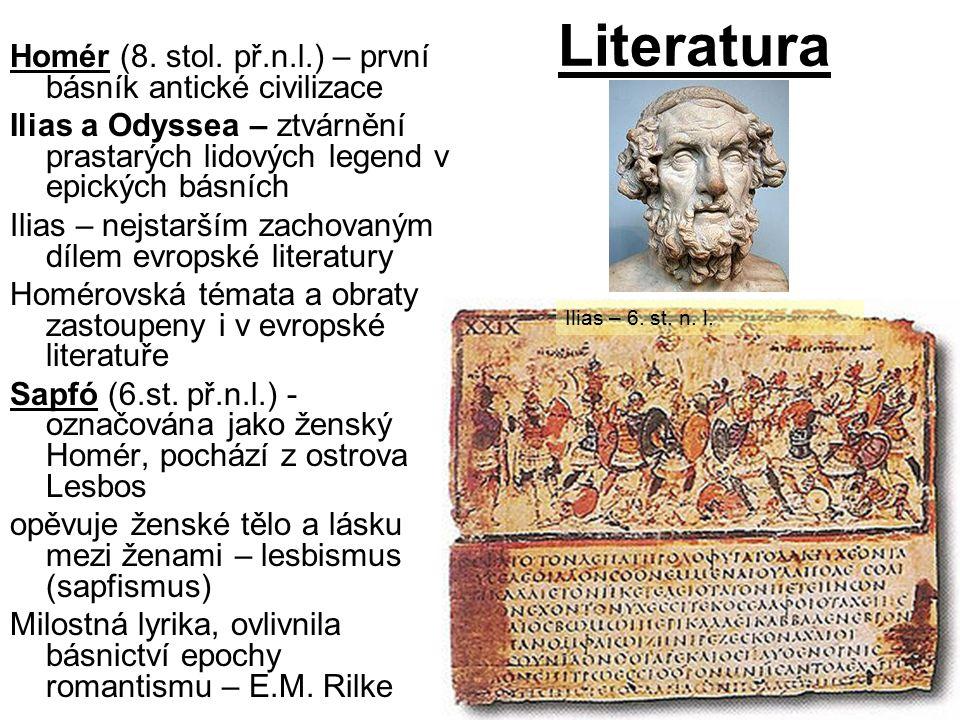 Literatura Homér (8.stol.