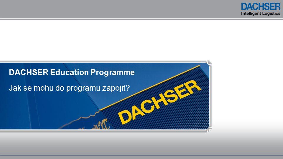 Jak se mohu do programu zapojit DACHSER Education Programme