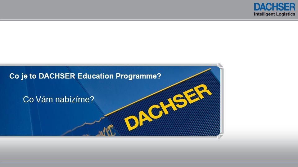 Co je to DACHSER Education Programme Co Vám nabízíme