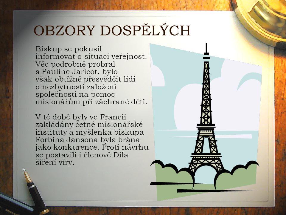 OBZORY DOSPĚLÝCH Biskup se pokusil informovat o situaci veřejnost.
