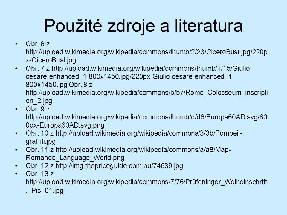 Použité zdroje a literatura Obr.