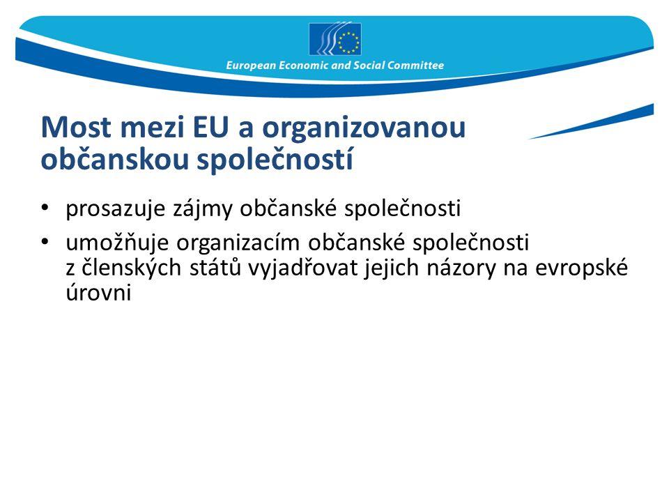 Most mezi EU a organizovanou občanskou společností prosazuje zájmy občanské společnosti umožňuje organizacím občanské společnosti z členských států vy
