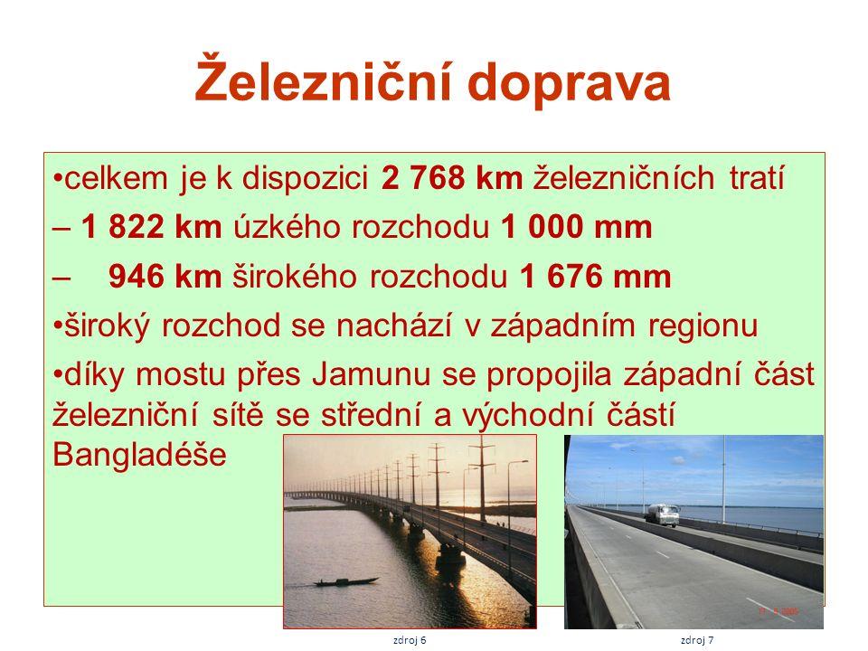 Železniční doprava celkem je k dispozici 2 768 km železničních tratí – 1 822 km úzkého rozchodu 1 000 mm – 946 km širokého rozchodu 1 676 mm široký ro