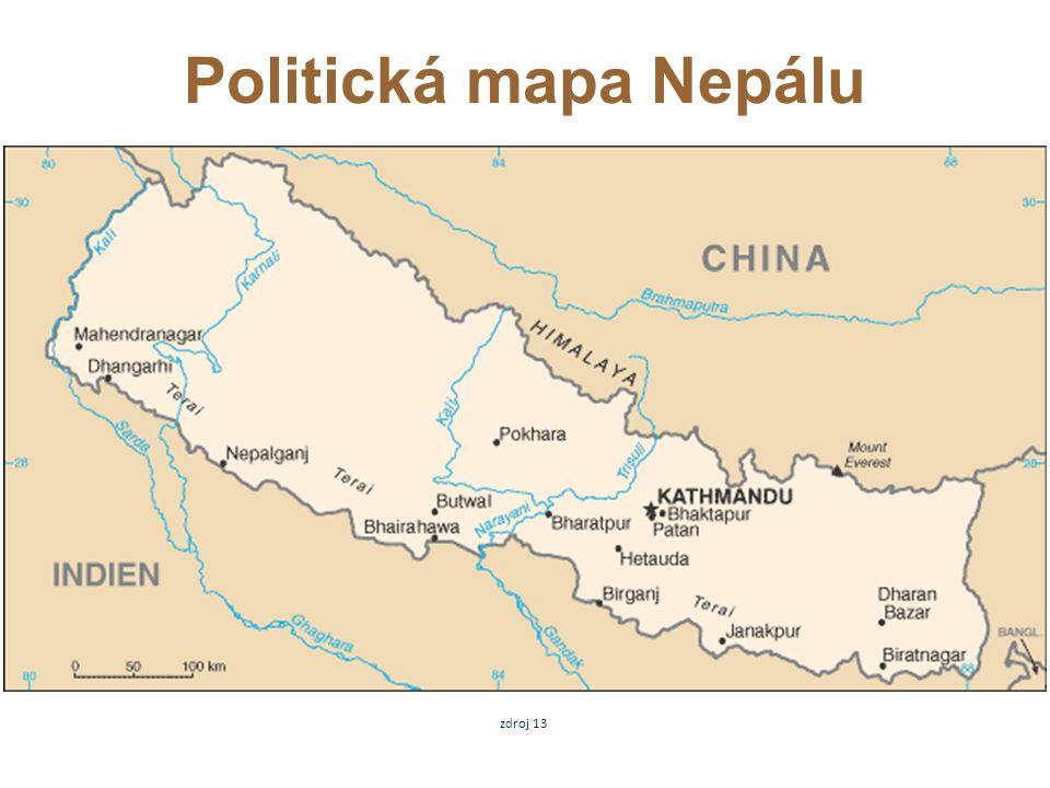 zdroj 13 Politická mapa Nepálu
