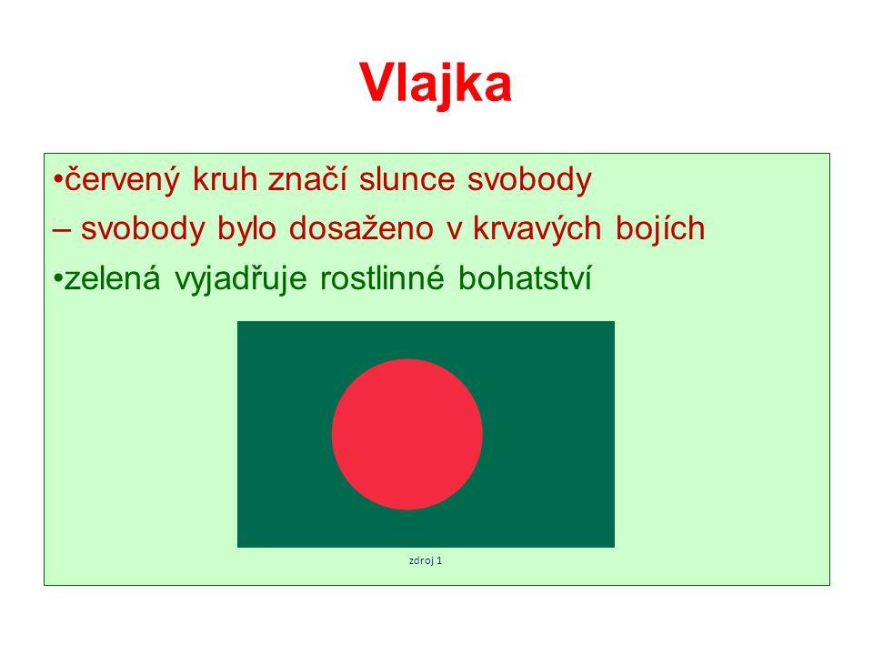 Vlajka červený kruh značí slunce svobody – svobody bylo dosaženo v krvavých bojích zelená vyjadřuje rostlinné bohatství zdroj 1