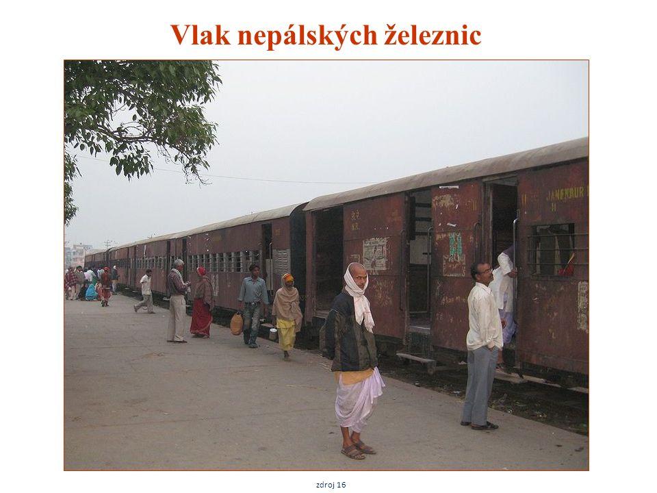 Vlak nepálských železnic zdroj 16