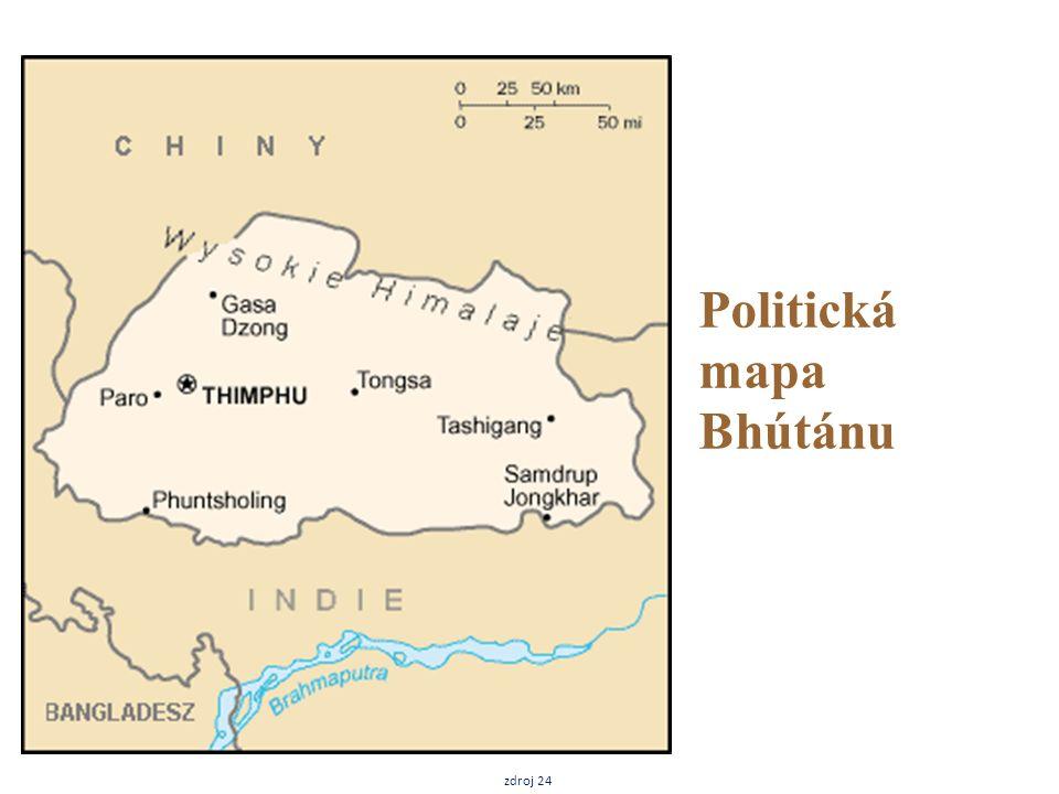 Politická mapa Bhútánu zdroj 24
