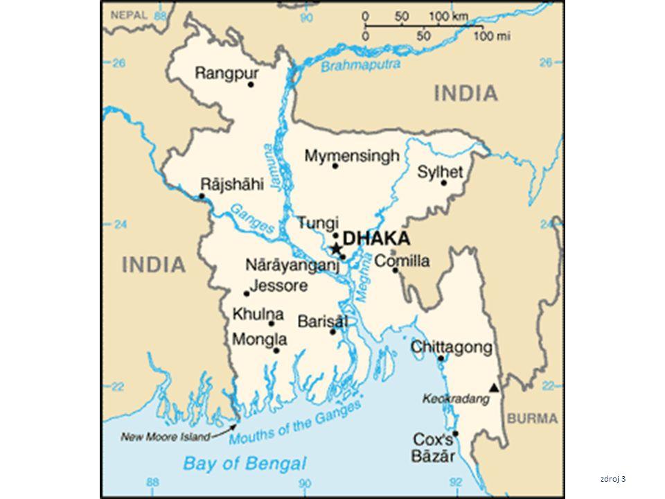 Bangladéš 143 998 km 2 158 600 400 obyvatel Dháka11 000 000 Čitágong 3 868 000