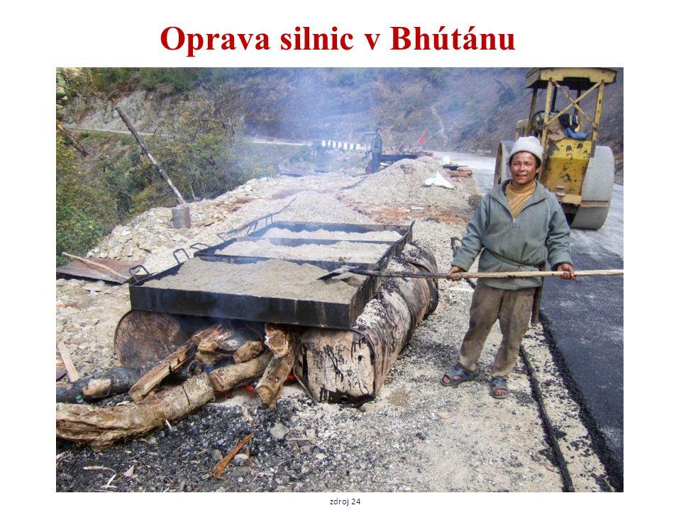 Oprava silnic v Bhútánu zdroj 24