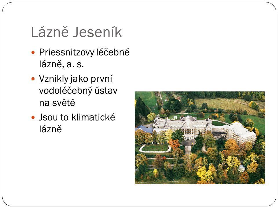 Lázně Jeseník Priessnitzovy léčebné lázně, a. s.