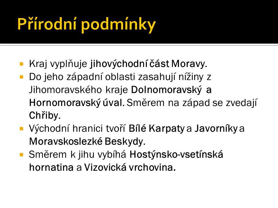  Kraj vyplňuje jihovýchodní část Moravy.