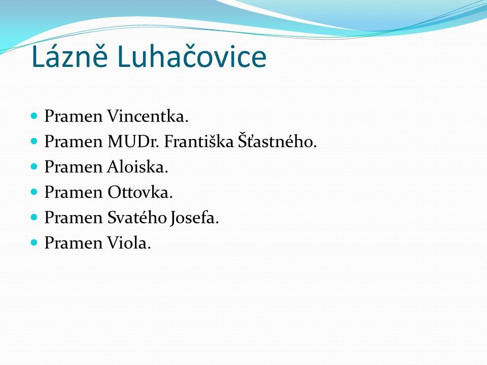Lázně Luhačovice Pramen Vincentka. Pramen MUDr. Františka Šťastného.