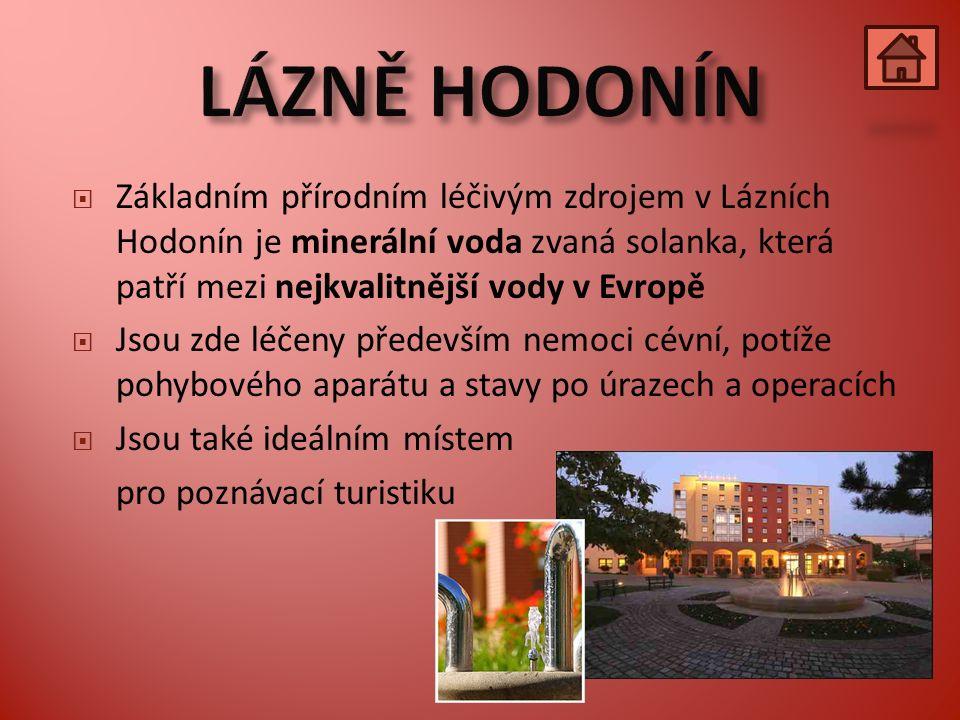  Nejmladší české lázně  Moderní lázeňský komplex stojí v těsné blízkosti lednického zámku  Základním přírodním léčivým zdrojem je voda, která svým složením připomíná mořskou vodu a patří tak k nejkvalitnějším svého druhu v Evropě