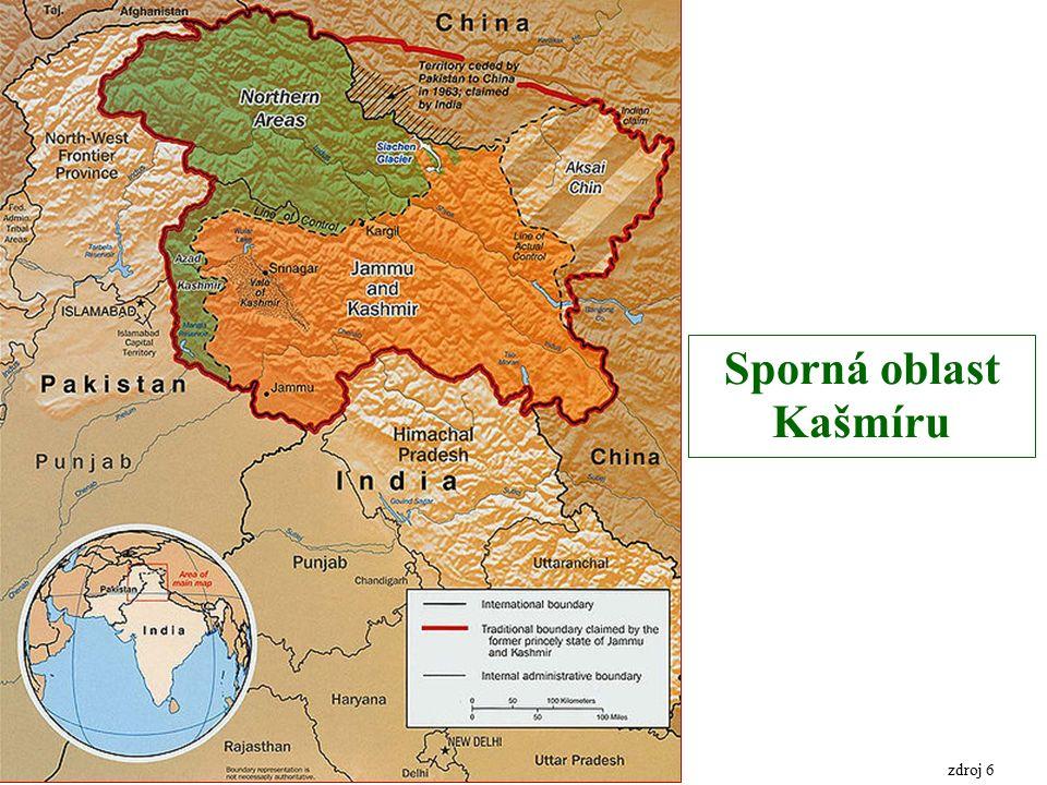 Sporná oblast Kašmíru zdroj 6