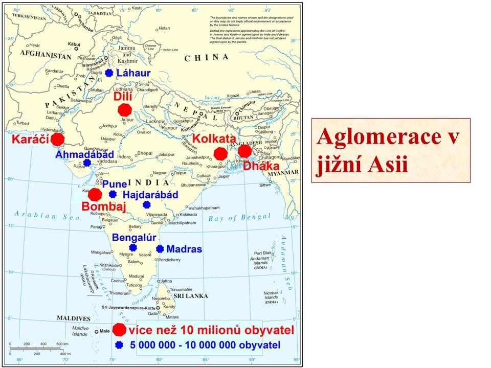 Aglomerace v jižní Asii