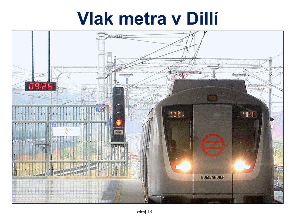 Vlak metra v Dillí zdroj 16