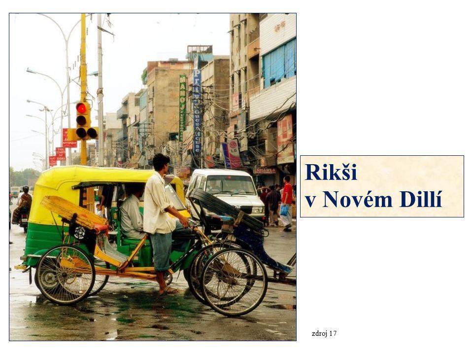 Rikši v Novém Dillí zdroj 17