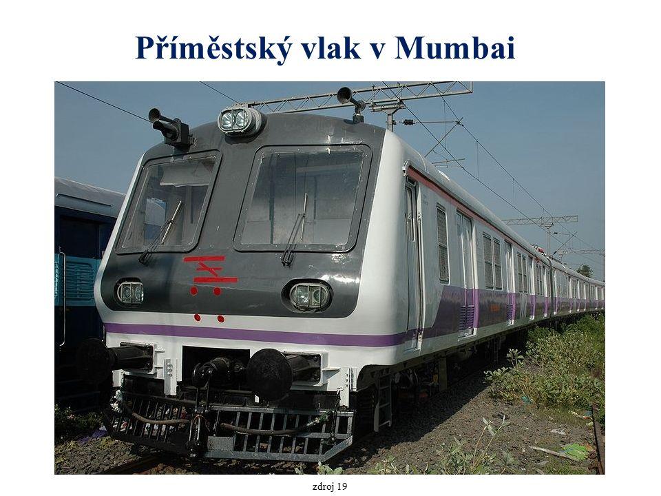 Příměstský vlak v Mumbai zdroj 19